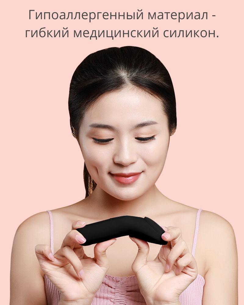 Щетка для очищения лица, силиконовая щетка для массажа, массаж лица щеткой