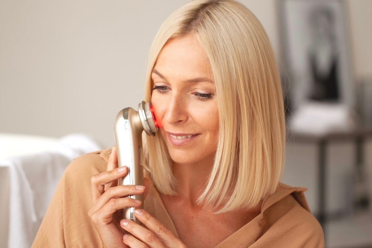 Nano Skin, аппарат для омоложения лица, подтяжка кожи лица, миостимуляция лица, лифтинг подтяжка лица