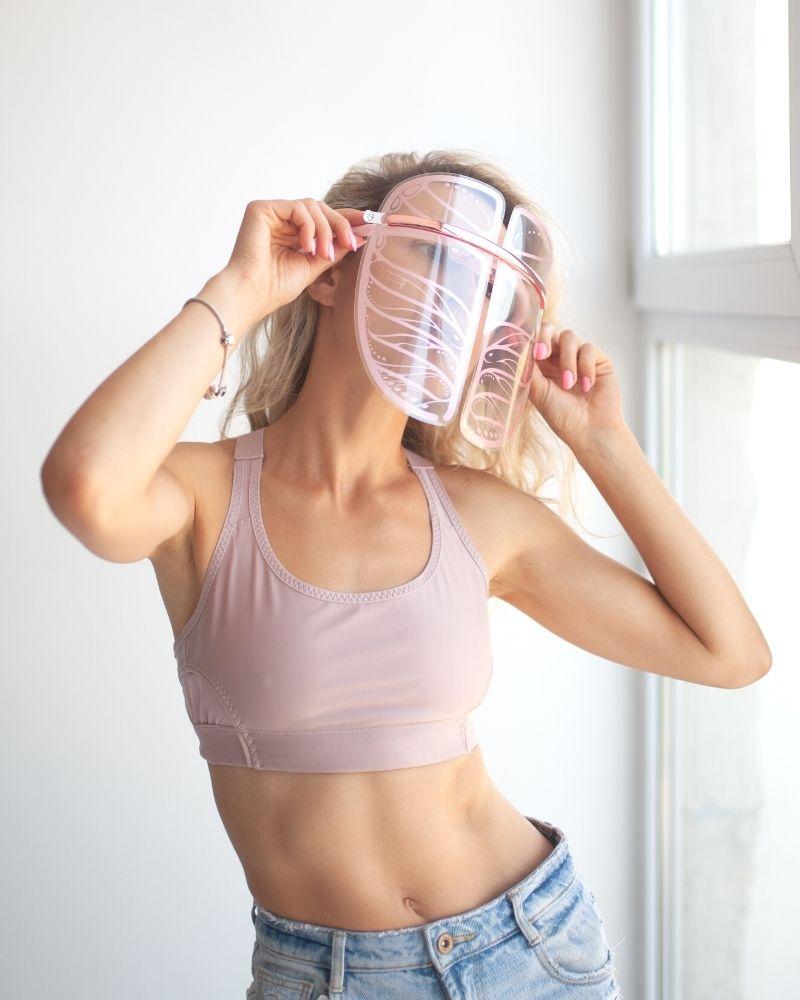 led маска для лица, графеновая маска, маска для светотерапии