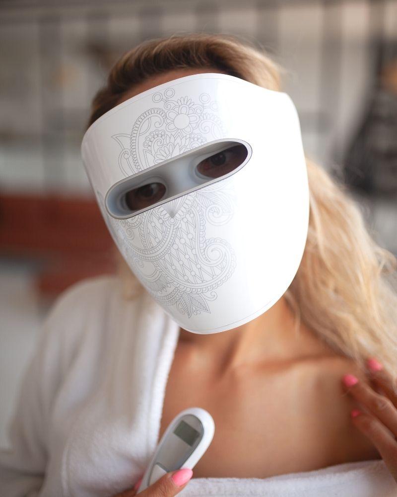 led маска для лица, маска для светотерапии, маска для инфракрасной терапии
