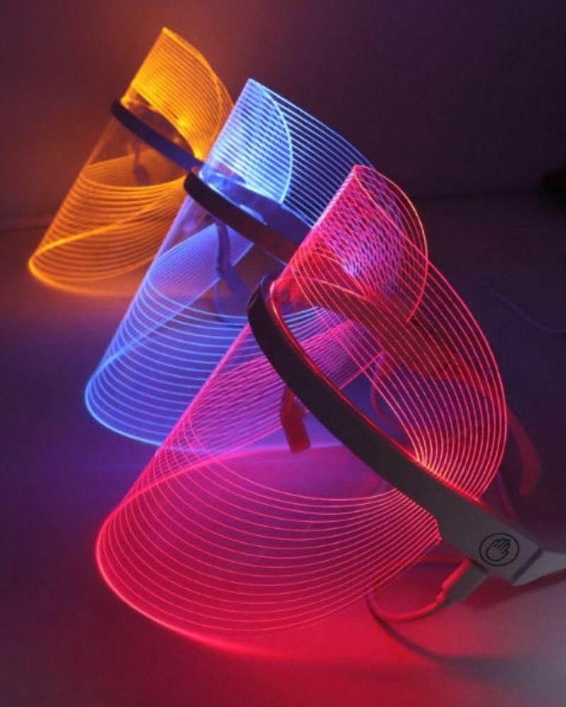 led маска для лица, светотерапия красным светом, светотерапия синим светом